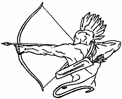 Council of Five Nations Iroquois Warrior Logo