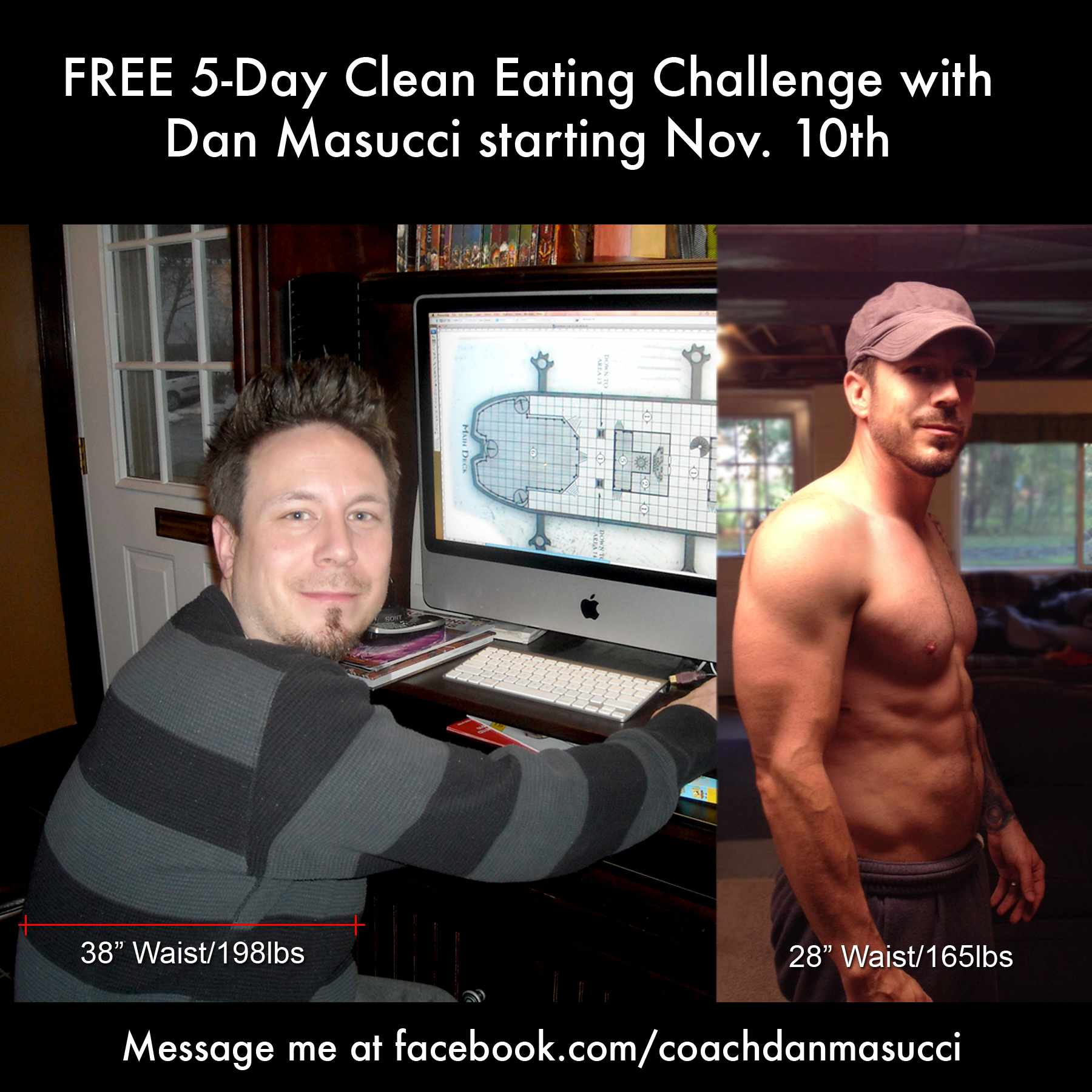 Clean Eating - Before and After - Dan Masucci