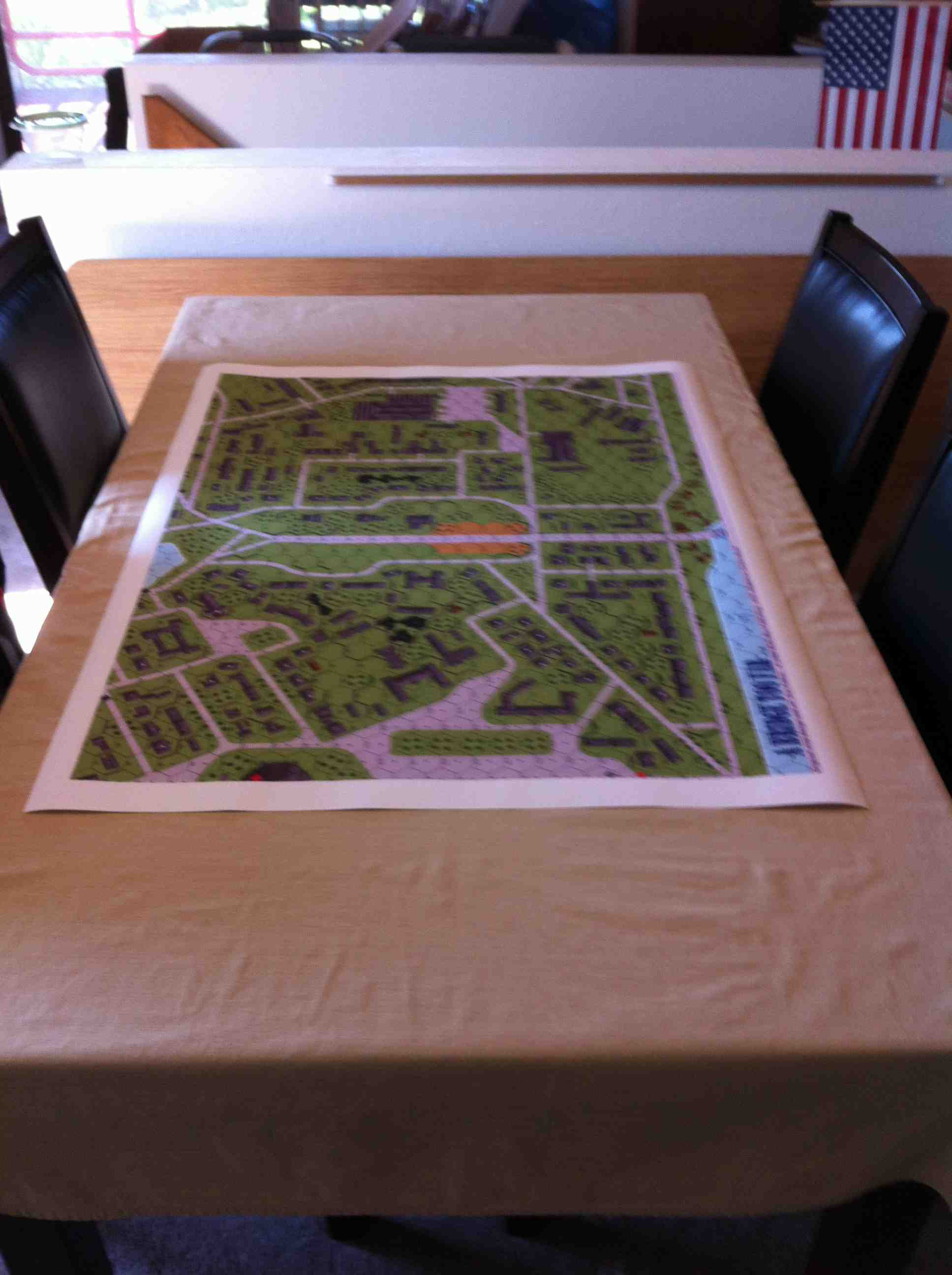 Large Format Map of A Bridge Too Far ASL Scenario