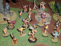 Song of Blades and Heroes miniatures at Council of Five Nations adventure gaming convention