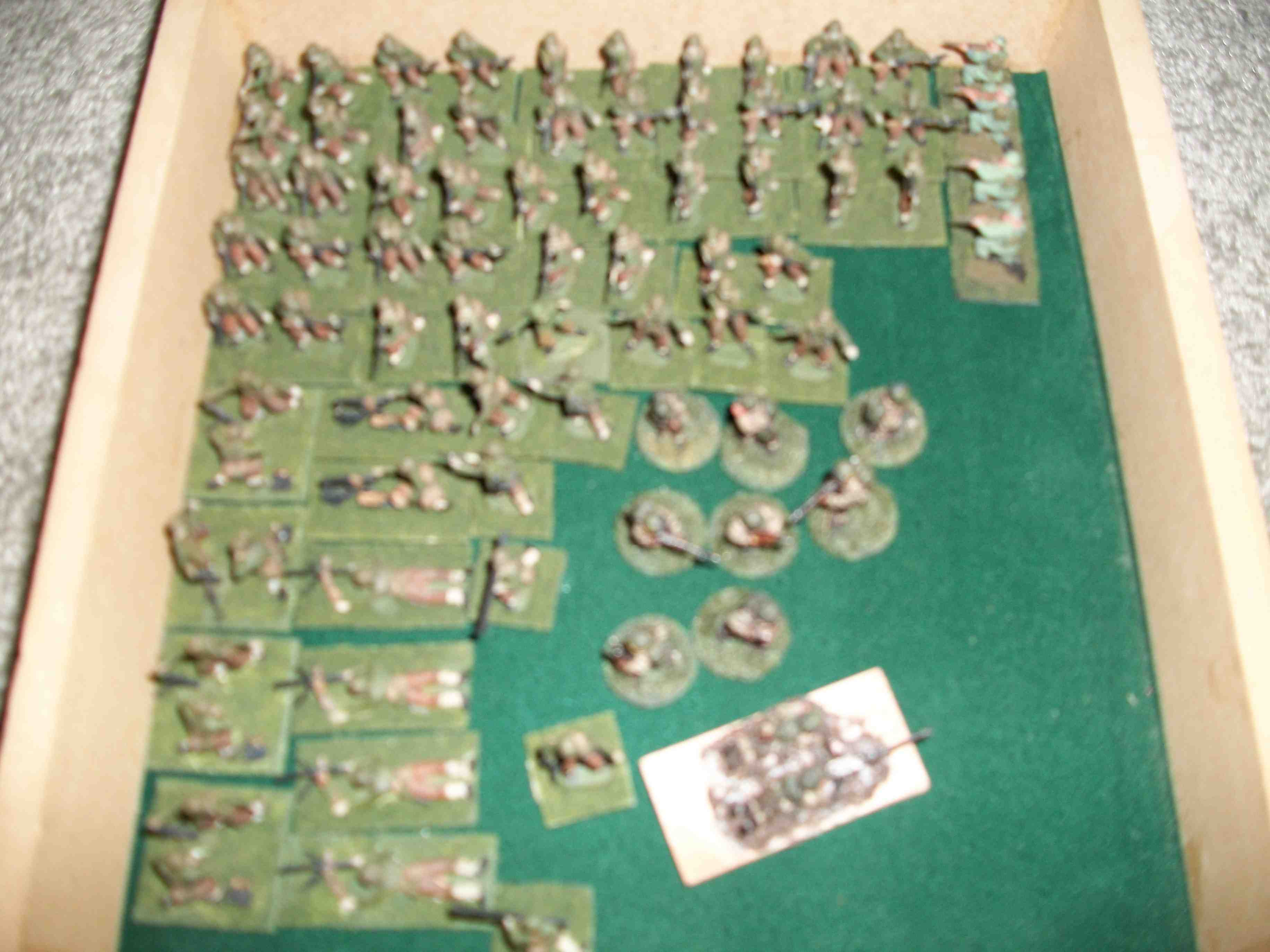 Painted 20mm American WW2 figures